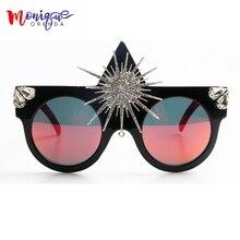 Brand Designer 2017 Sunglasses Women Big Sun Flower Queen Style Luxury Sunglasses For Ladies Party Sun glasses Men