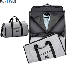 foldable suit bag waterproof oxford men travel bags hand luggage large business for