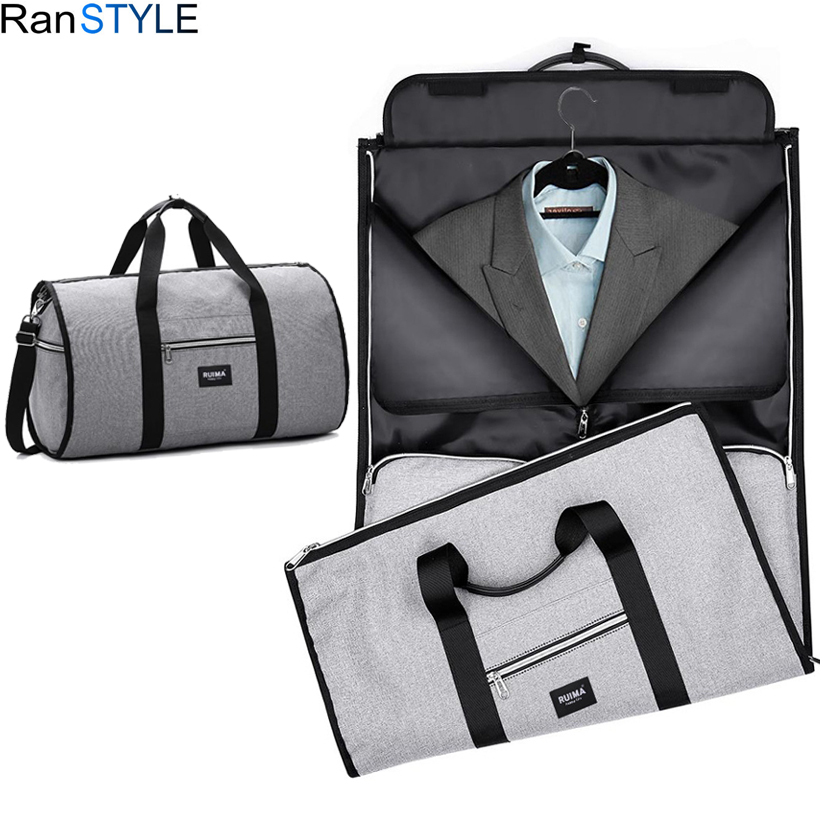 все цены на suit bag waterproof oxford men travel bags hand luggage large foldable business travel bag for suit онлайн