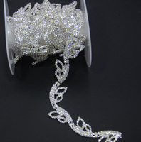 Rhinestone Decorative Chain 1yards Lot Butterfly Decoration Wedding Belt Chain Accessories Crystal Glass Fancy Trim