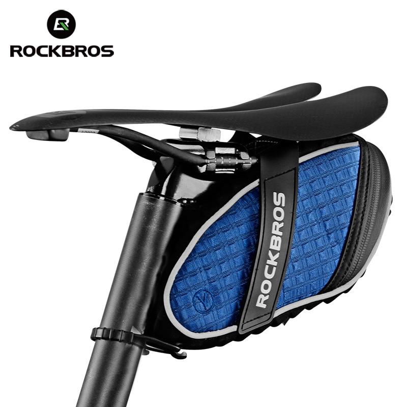 ROCKBROS velosipēdu somas velosipēdu aizmugurējā soma seglu soma ūdensnecaurlaidīga 3D apvalka triecienizturīga liela ietilpības sēdvietu somas Ciclismo aksesuāri