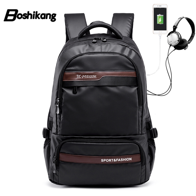 Boshikang Men Backpack Oxford Male Functional Bags Men Waterproof Backpack Big Capacity Men Bag School Travel Bags