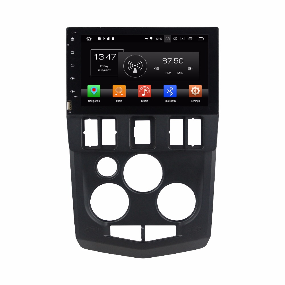 Navirider Android 8.0 radio magnétophone octa Core 4 gb RAM 32 gb rom avec IPS écran pour Renault LOGAN l90 tête unités avec GPS