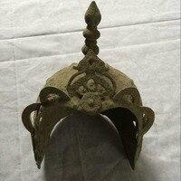 Античная древние Китайские бронзовые вообще шлем