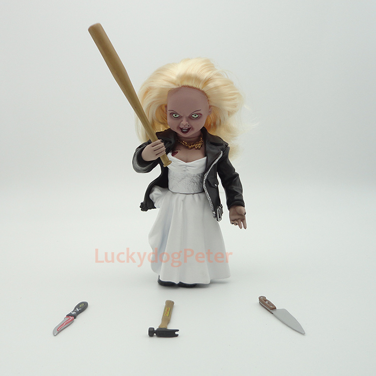 14CM Anime figure Bride Of Chucky wedding dress ver action figrue movable kids toys for boys