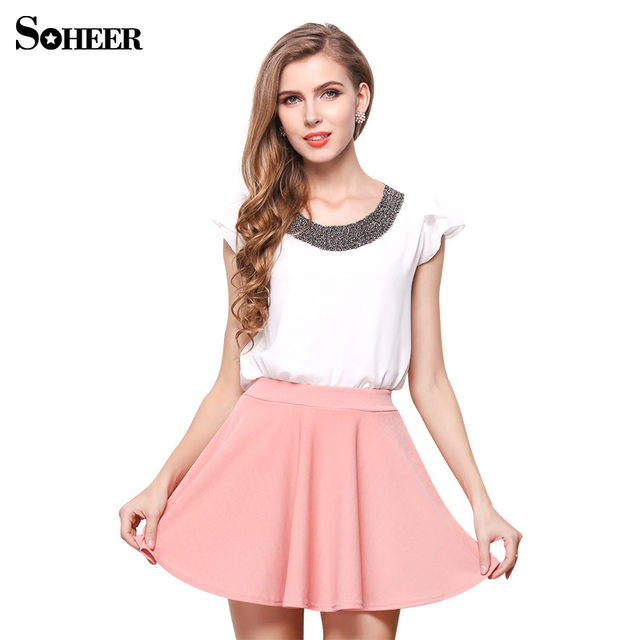Aliexpress.com : Buy SOHEER 2017 Pink Skirts Sexy Short Skirts for ...