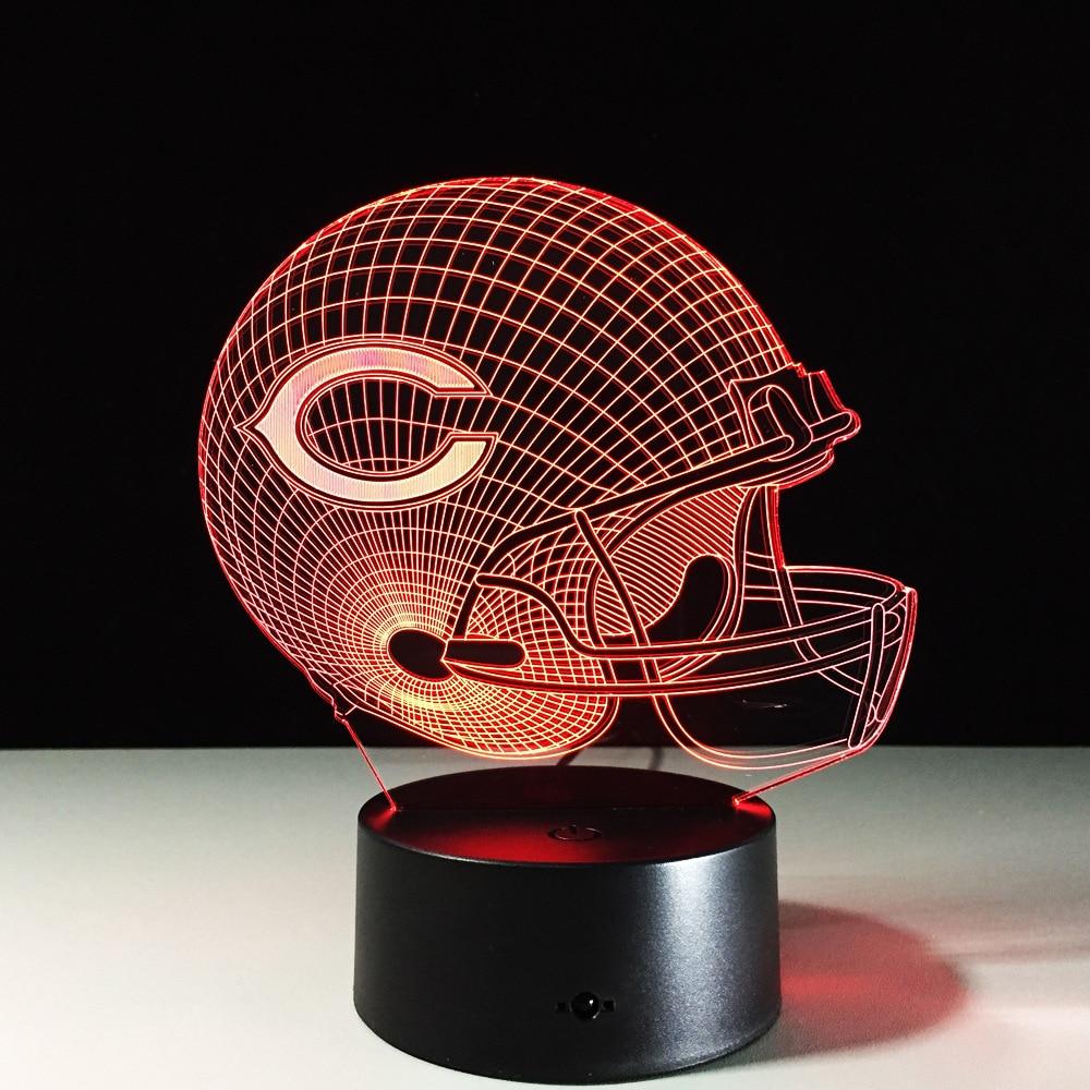 Chicago Lighting Stores: Novelty NFL Chicago Bears Football Helmet Illusion 3D