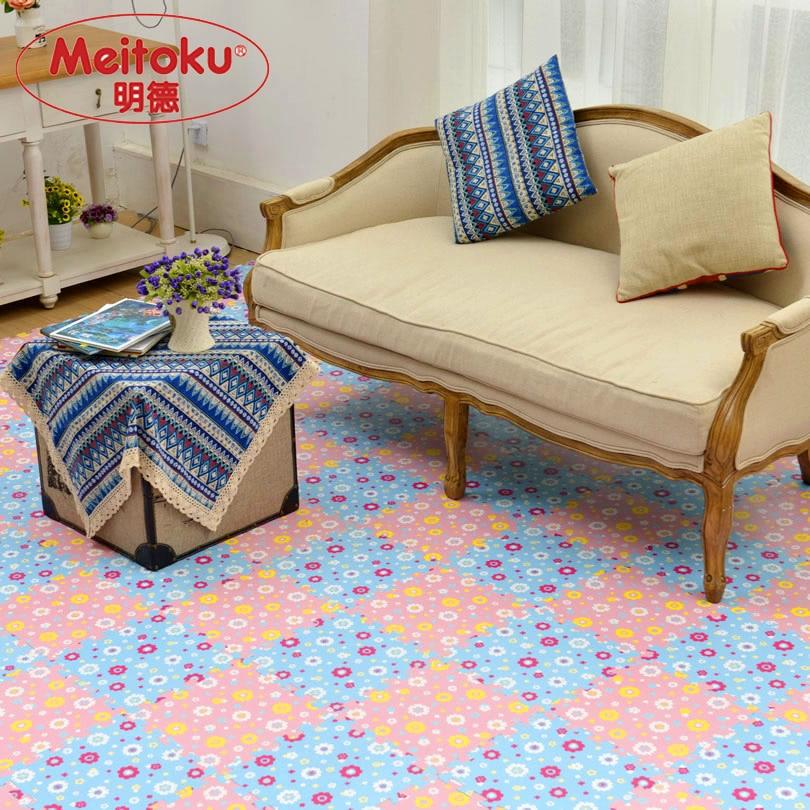 Meitoku Mjukt EVA Skumpussel Spela Mat Tile / 9st Flower Ej giftig träningsmatta, mellanliggande golvkryssningsplatta, Varje 30x30cm