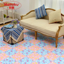 Meitoku Soft EVA Foam puzzle Play Mat Tile 9pcs Flower Non toxic exercise mat interlock floor