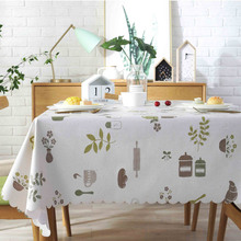 Pastoral Table Cloth Cover PVC Waterproof Tablecloths Background Plastic Home Decor Manteles Toalha De Mesa