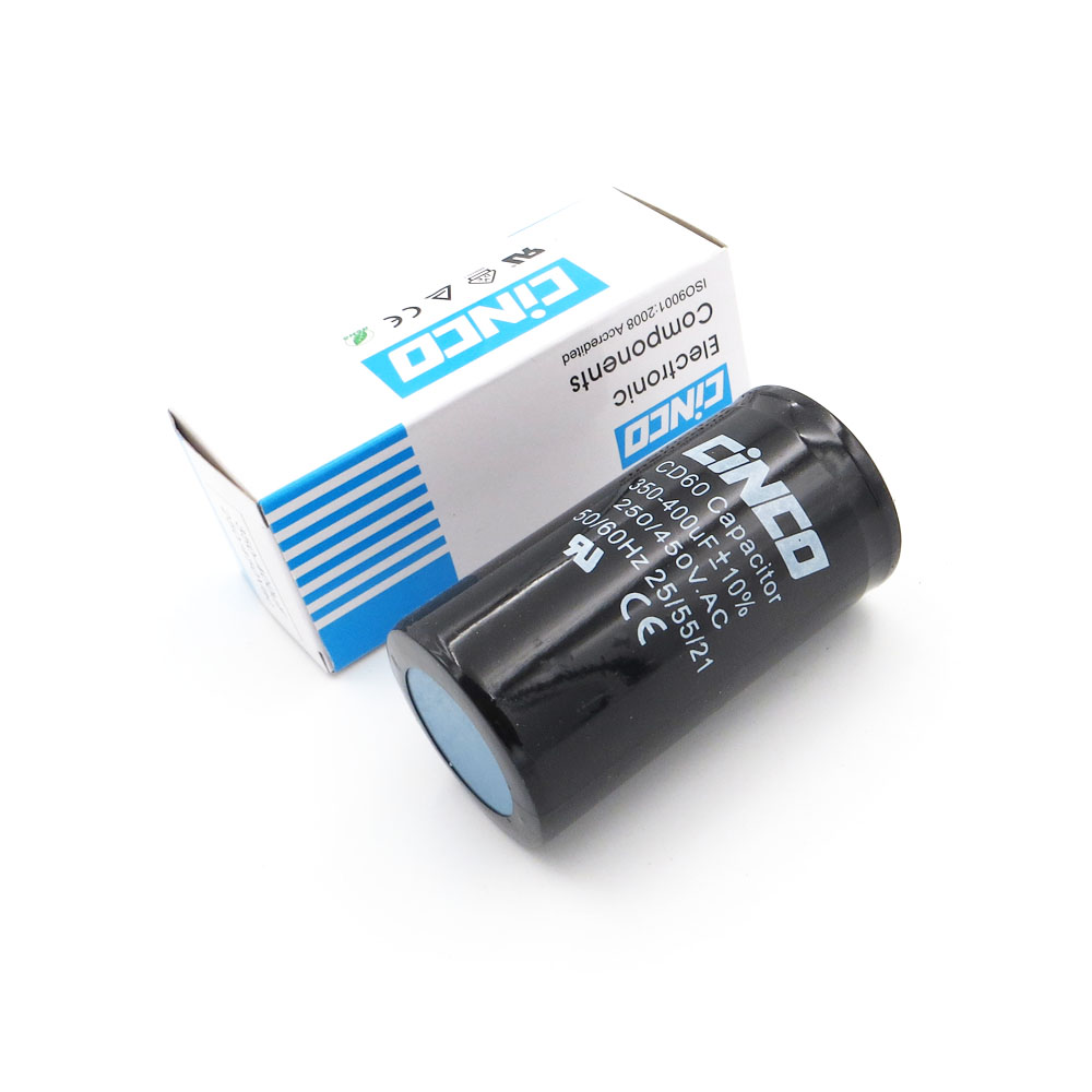 350-400 Uf 250-450 V Ac Appliance Motor Start Ausführen Kondensator Cd60 Luft Kompressor Kondensatoren Heavy Duty Elektrische Motor Ausgangs