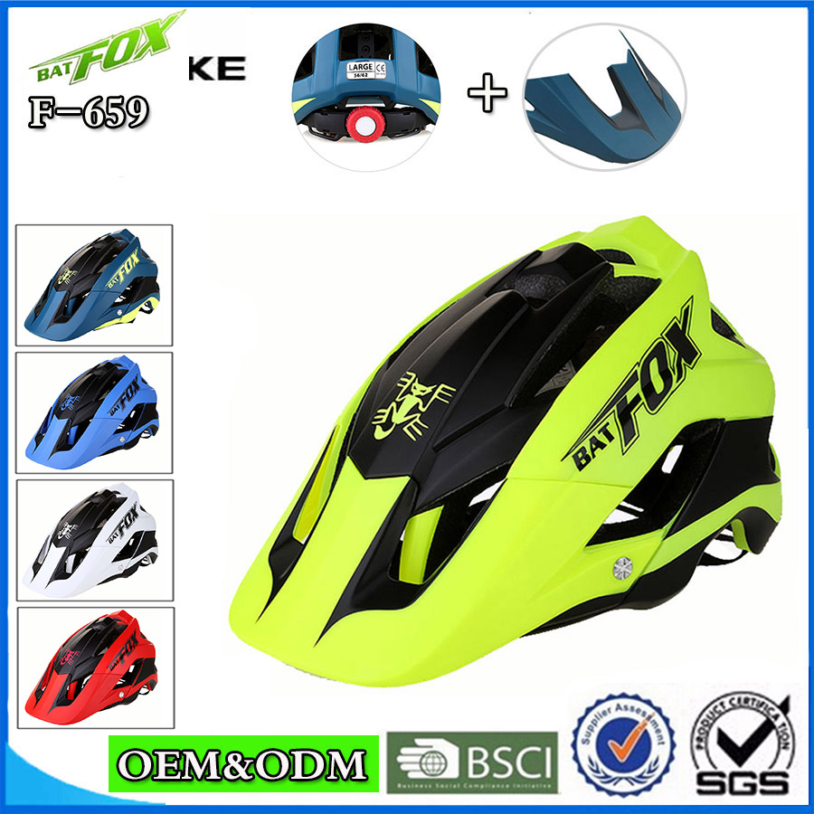 BATFOX Men Women Bicycle Helmet Ultralight Integrally-molded Cycling Helmet For MTB Road Bike Helmets Casco Ciclismo Safe Cap bicycle helmet ultralight cycling helmet casco ciclismo integrally molded bike helmet road mountain mtb helmet 54 62cm