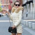 Alta Qualidade para baixo Mulheres Jaqueta de Inverno Quente Para Baixo Casaco Grosso quente Com Capuz Para Baixo casaco de Algodão Acolchoado Para O Inverno das Mulheres para baixo jaqueta