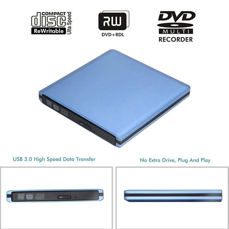 USB 3.0 DVD-kirjutaja DVD-ROM-i mängija Väline optiline draiv CD / - Arvuti komponendid - Foto 4