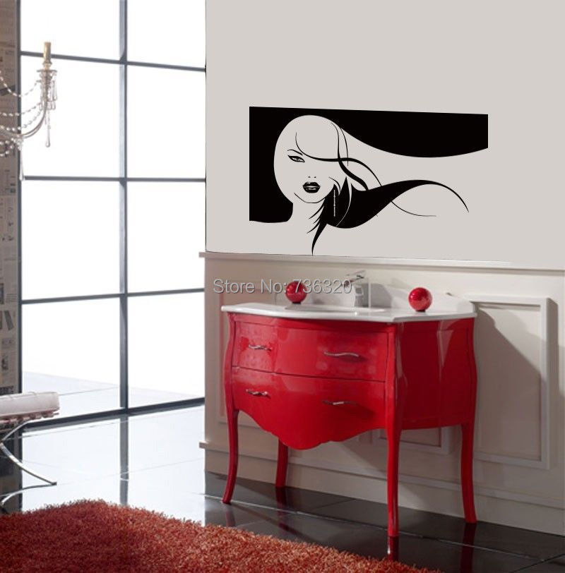 New Arrival Girl Long Lashes Make Up Vinyl Decal Hair Beauty