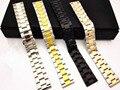 1 PCS alta qualidade 18 MM 20 MM 22 MM 24 MM sólido aço inoxidável 304 pulseira de homens e mulheres pulseiras - WBT005