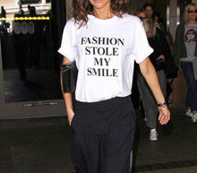 fashion stole my smile funny quote T shirt victoria beckham style fashion t shirt funny quote tees hipster t shirt tees