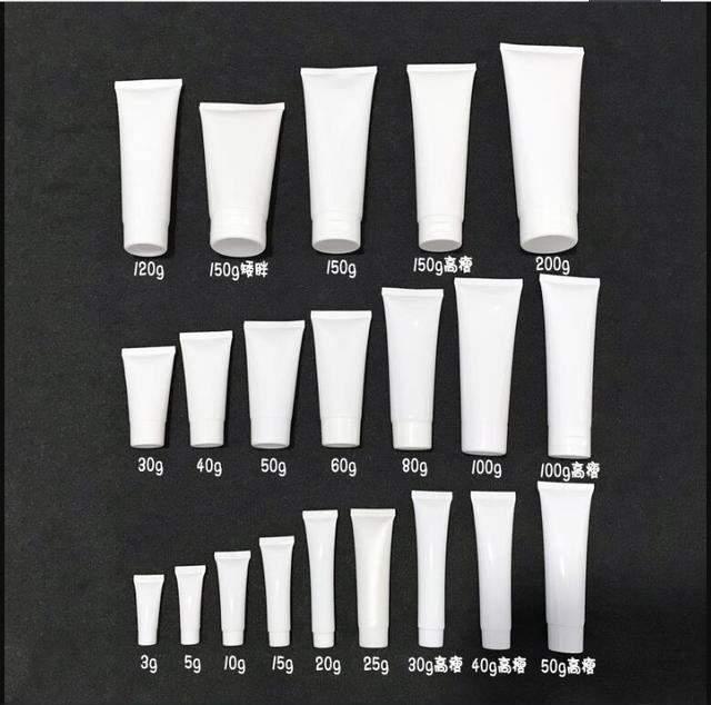 100 pcs Free Shipping 50 100 120 150 200 g White plastic Packing Hose Bottle Flip Cap Gel cream lotion empty Container seal