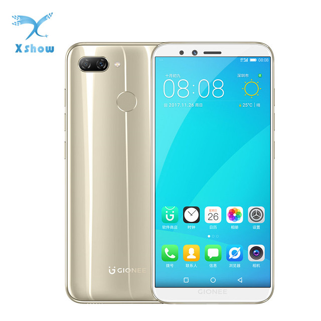 "Gionee F6L Smartphone 3GB RAM 32GB ROM 5.7"" Andriod MSM8937 1440*720P 2970mAh Battery Front 8.0MP Rear 13.0+2.0MP Mobile phones"