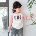 Girl Autumn Spring Tops Tees Cute Kids T-shirt With 3 Little Cats Children  Clothes Boys Girls Cotton Long Sleeve T-shirts Cat