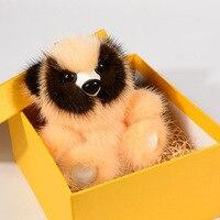 100% Real Mink Fur Copenhagen Raccoon Rabbit Keychain Bag Pendant Car Accessories Mink Fur Accessories Key Chain Women Gifts