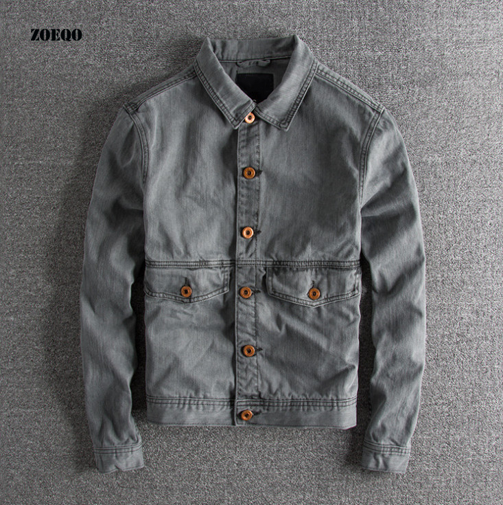 Europe And America To Do The Old Retro Wave Of Men Cultivating Autumn And Spring Jacket Casual Mens Bomber Jackets Coats Cotton
