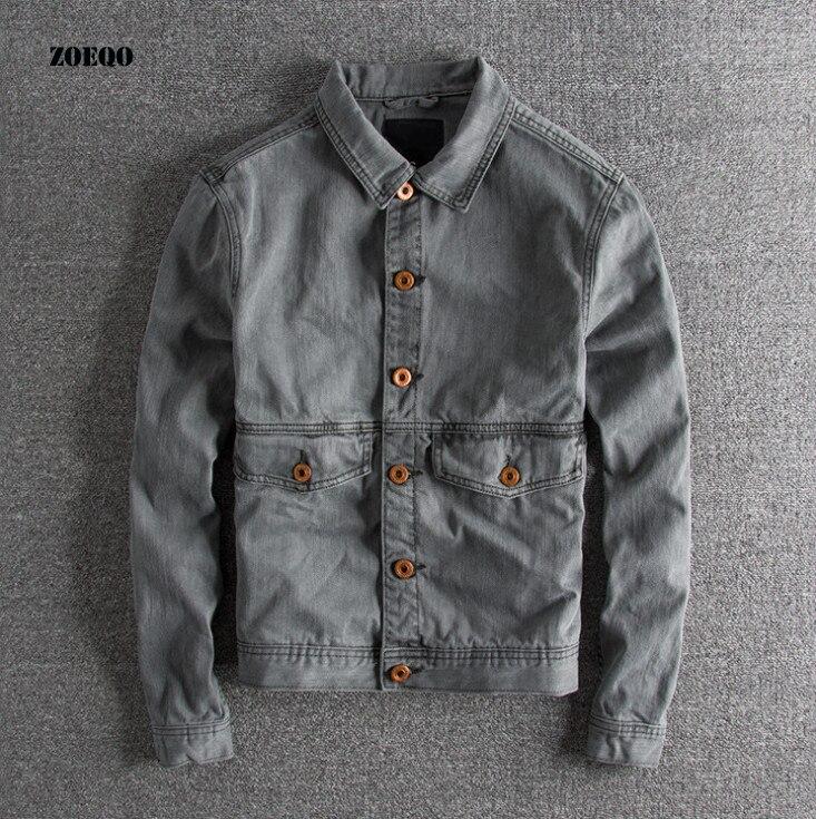 ヨーロッパとアメリカは古いレトロ波の男性栽培秋と春ジャケットカジュアルメンズボンバージャケットコート綿  グループ上の メンズ服 からの ジャケット の中 1