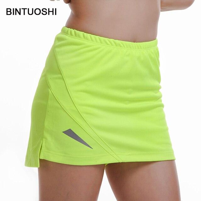 BINTUOSHI mujeres tenis Skorts bádminton Mesa tenis falda alta cintura Golf  entrenamiento ropa deportiva para mujer 34896f6cbc3e1