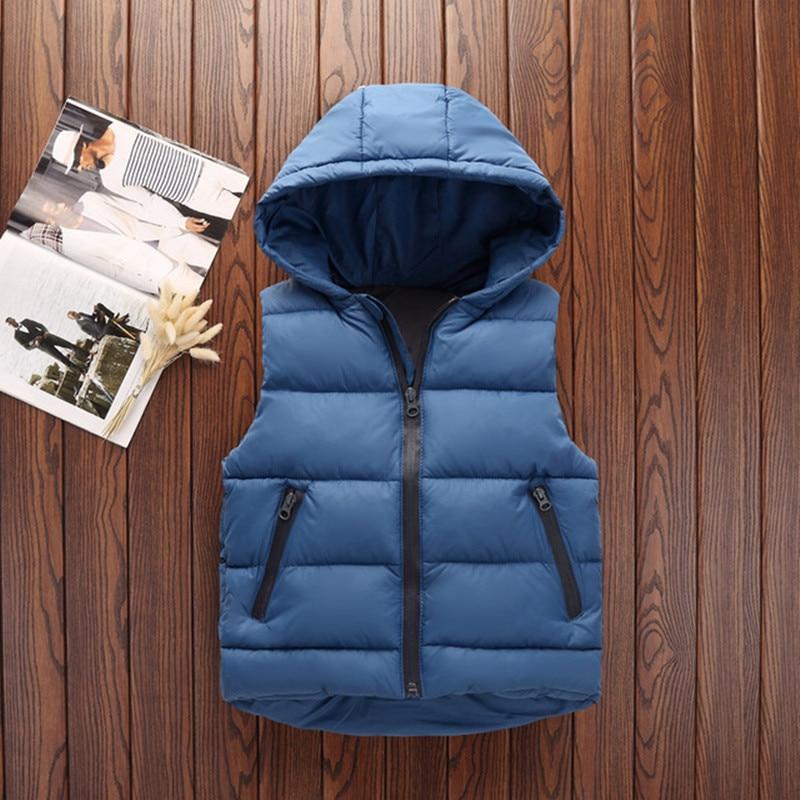 Autumn Children Warm Vest Kids Thicken Waistcoat Kids Outerwear Vest Children Clothing Teenager Boys Girls Hooded Jackets Vest (14)
