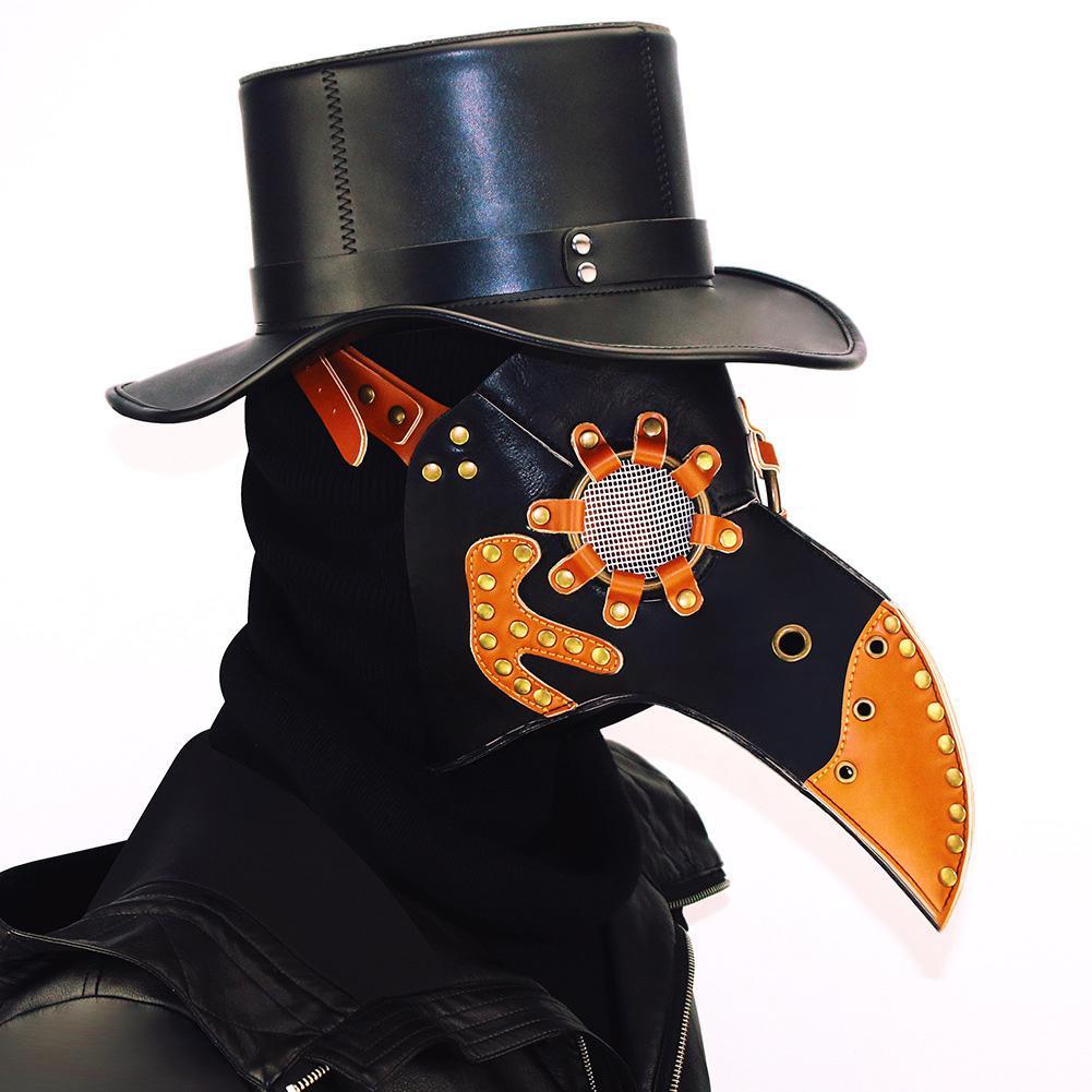 MISSKY Halloween partido PU máscara de pico Steampunk traje Prop Bird diseño boca máscara accesorio del partido