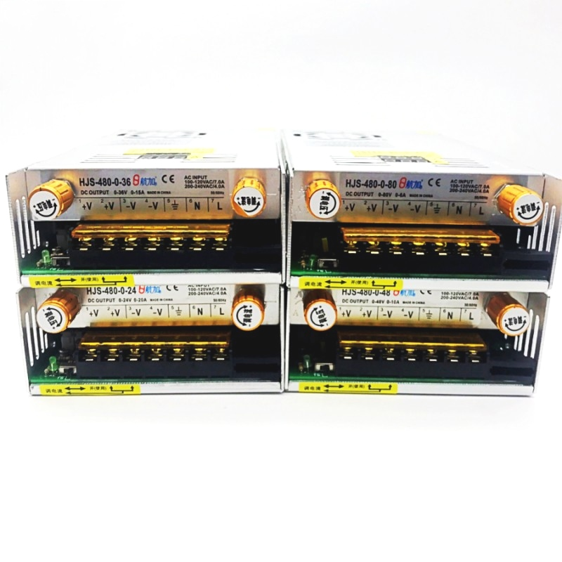 AC-DC Converter Digital display current Voltage adjustable Switch regulated power supply DC 12V 24v 36v 48v 60v 80v 120v 480W-5