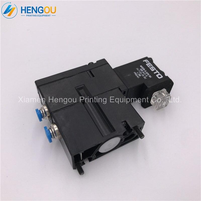 3 pièces Hengoucn électrovanne MEBH-4/2-QS-4-SA M2.184.1111/05 SM102 CD102 SM52 PM52 machine Pièces