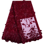 Wine Red French Net ...