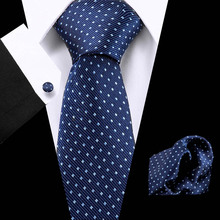 Men`s Tie Blue Polka Dot Jacquard Woven 100% Silk Brand Tie Hanky Cufflinks Set For Wedding Business Party Free Postage пряжа для вязания schachenmayr cleany розовый 35 43 м 50 г