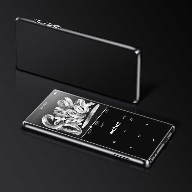 Oryginalny HIFI Mp4 odtwarzacz ultracienki z głośniki muzyka odtwarzacz bezstratnej przenośne odtwarzacze Audio Radio FM Ebook dyktafon