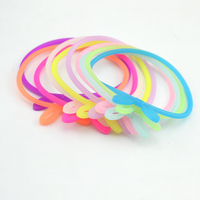 10pcs /Lot Sweet Candy Silicone Rabbit Ear Style Hair Rope Elastic Hair Bands For Women Girl Hair Rubber Bands Hair Accessories