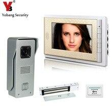 YobangSecurity Video Intercom Monitor 7″Inch Video Doorbell Phone Door Phone Home Security Color Wired With Electronic Door Lock