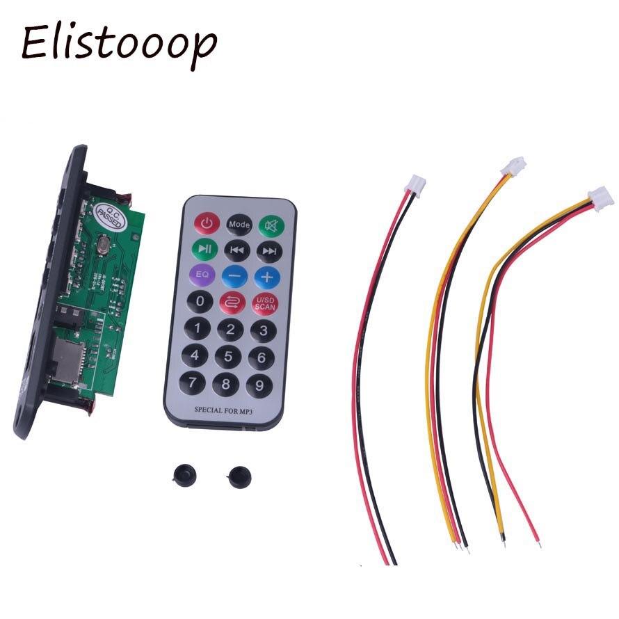 Bluetooth Audio Decoder Board Module MP3 Player LED Call APE FLAC MP3 WMA WAV decoder board FM AUX 3.5MM 12V USB TF FM