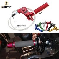 ZSDTRP Universal CNC Aluminum 7/8'' 22mm Throttle Grip Quick Twister + Throttle Cable CRF50 70 110 125 250 Dirt Pit Bike