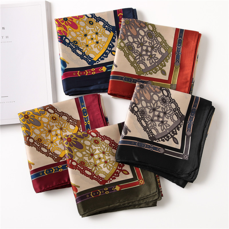 70*70cm Silk scarf women spring autumn Fashion scarves small squares Head scarf high quality shawl echarpe foulard femme hijab