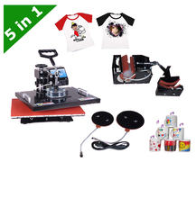 DHL free shipping 5 in1 multifunction T-shirt plate mug hat heat press machine LY-035