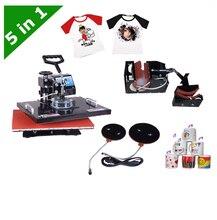 DHL free shipping 5 in1 multifunction T-shirt plate mug hat heat press machine LY-035