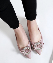 2016 new spring and summer shoes pointed Korean wild diamond shallow mouth low-heeled rough with women SUB871
