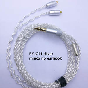 RY-c11 1.2m DIY Replacement Cable 3.5mm Silver plated  Upgraded Wire 4 strand wire cable For Repair DIY HIFI mmcx earphone cable