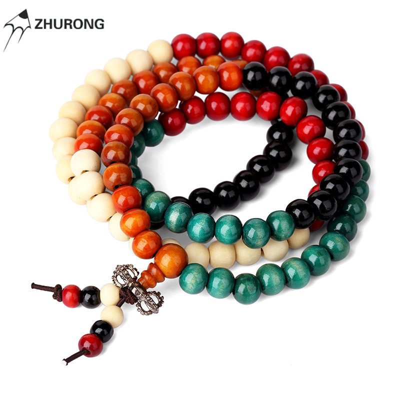 Fashion Women Men Costume Jewelry Beaded Chains Necklace Wood Beads Diy Handmade Design Punk Rock Filling Pieces Women Jewelry