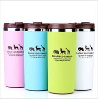 Cartoon New Thermo Coffee Drinkware Thermo MUG Milk Drink Bottle Flask Thermal Safari Eco Tea Coffee