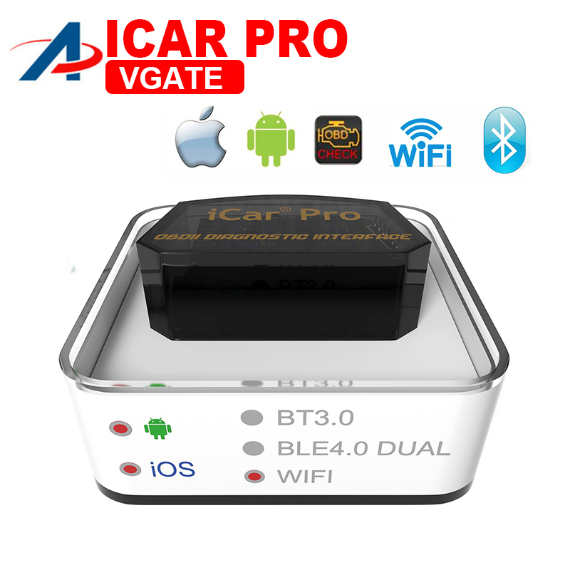 Diagnostic tool Vgate iCar Pro OBD Code reader Bluetooth/WIFI Auto car scanner Sleep For Android And IOS Batter than ELM327 V1.5
