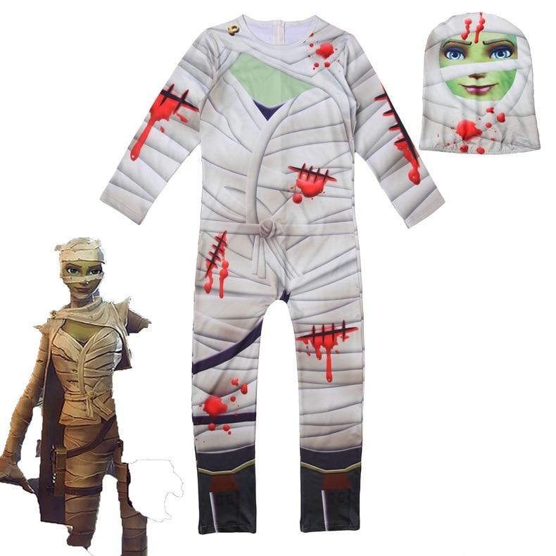 children/kids Halloween Merry Diffuse party mummy night skullCosplay Zentai Costume jumpsuit