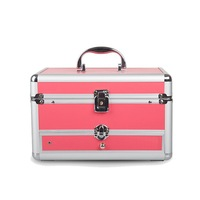 Professional Cosmetic Case PVC Cosmetic Suitcase Portable High Quality Travel Cosmetic Organizer Makeup Bag Designers Trunk