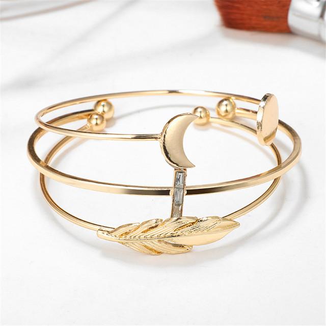 9 Charm Styles Fashion Cuff Bangles Bracelets Set
